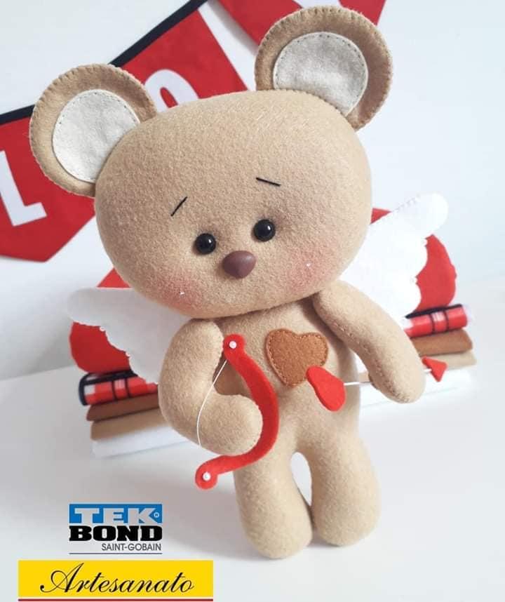 Ursinho Cupido de Feltro