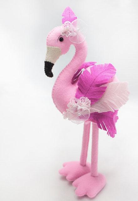 Video Aula de Flamingo em Feltro