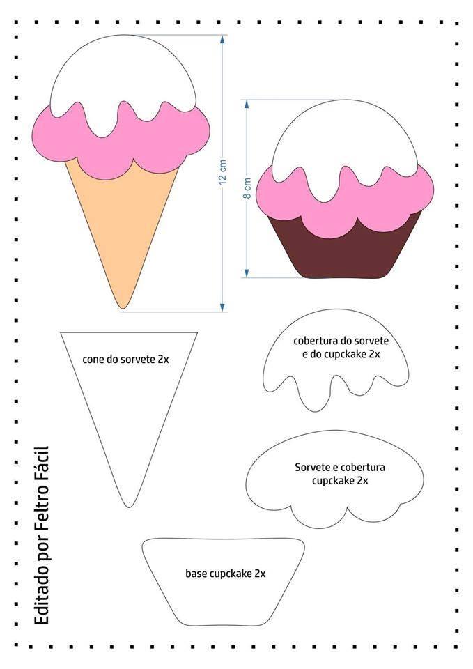 Moldes de sorvetes
