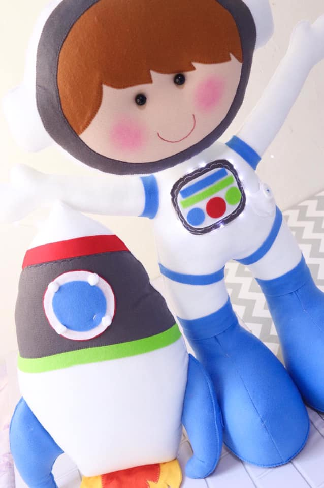 Molde de Astronauta de Feltro