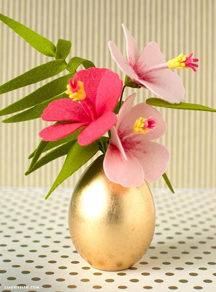 Flor de Hibisco em Feltro