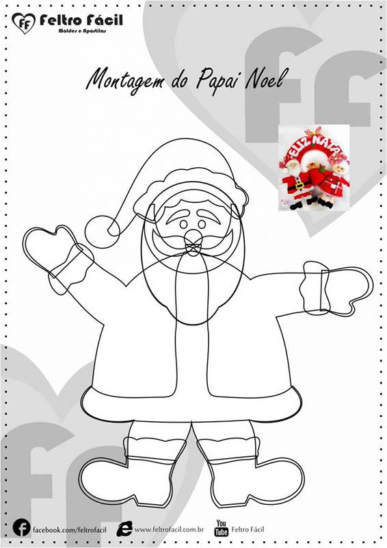 Molde Papai Noel