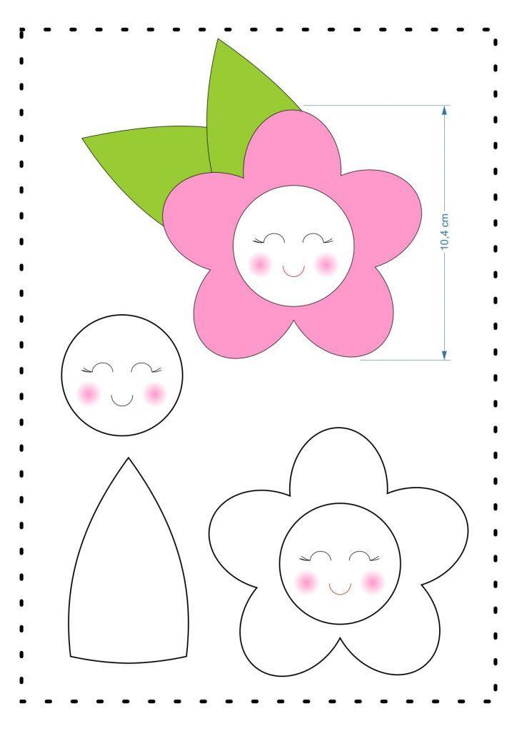 Molde Flor Feltro