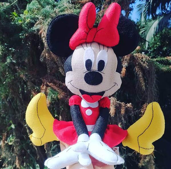 Minnie Mickey em Feltro