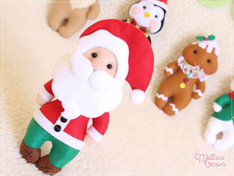Molde Papai Noel Feltro