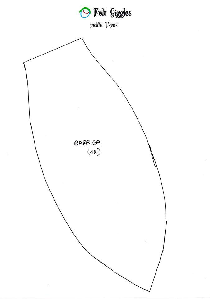 Molde de tiranossauro