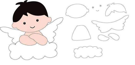 Moldes de anjos para salvar e imprimir