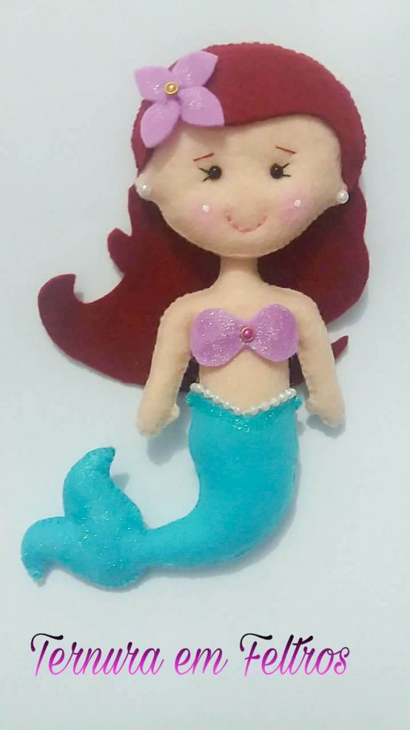 Princesa em Feltro Ariel