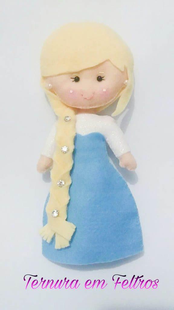 Princesa em Feltro Frozen