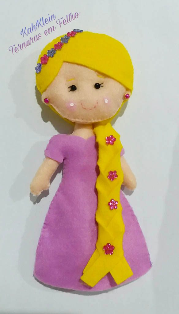 Princesa em Feltro Rapunzel