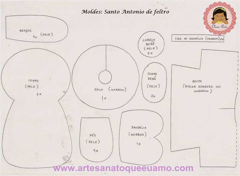 Molde Santo Antônio Feltro