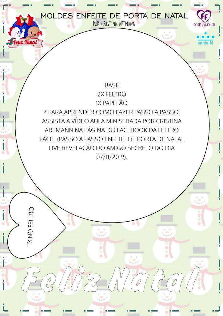 ENFEITE DE PORTA DE NATAL