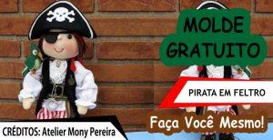 Moldes de Piratas em Feltro