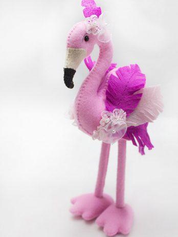 Apostila Flamingo em Feltro