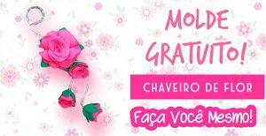 Molde do Chaveiro de Flor em Feltro!