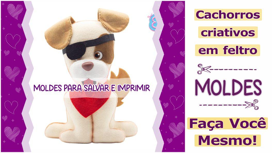 Read more about the article Cachorrinhos em feltro: moldes criativos para imprimir