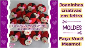Read more about the article Moldes de joaninhas para salvar – DIY