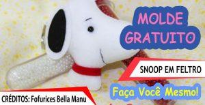 Chaveiro do Snoopy – Molde e Passo a Passo