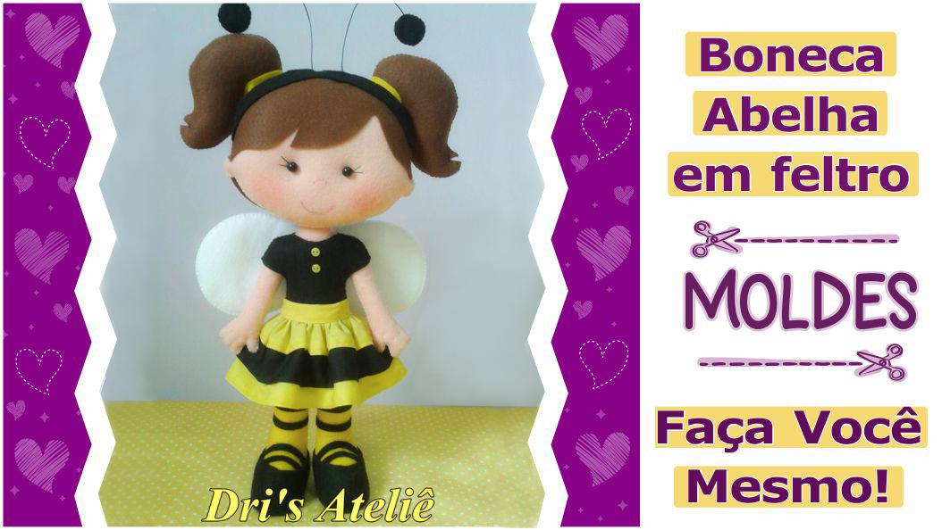 Boneca abelha em feltro | faça você mesmo