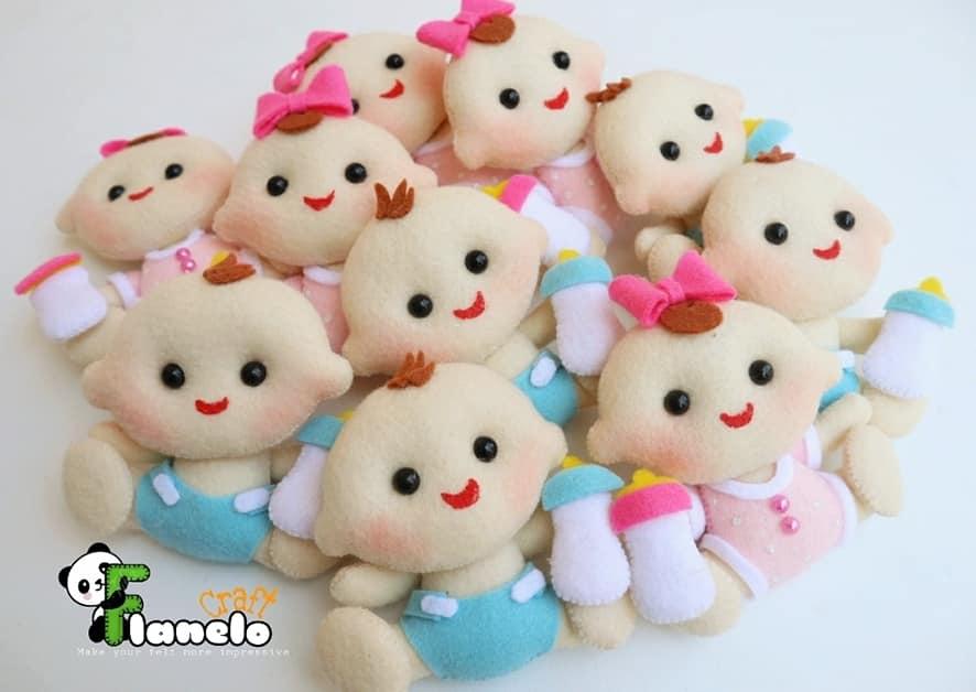 bebês em feltro