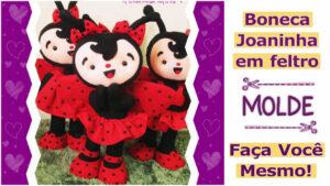 Read more about the article Molde de boneca joaninha em feltro – DIY