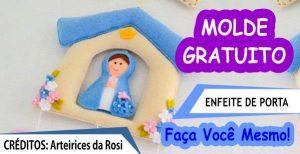 MOLDE ENFEITE DE PORTA SANTINHA EM FELTRO