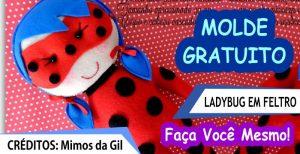 Ladybug em Feltro – Molde e Passo a Passo