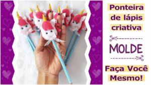 Read more about the article Ponteira em feltro de unicórnio | molde completo – DIY