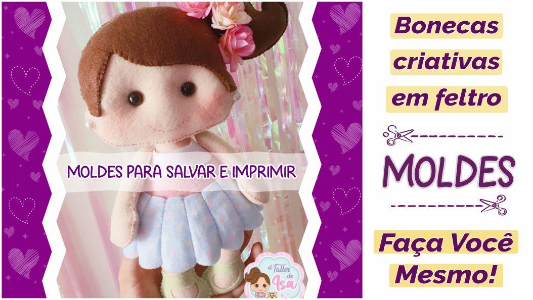 Read more about the article Moldes criativos de bonecas em feltro [DIY]