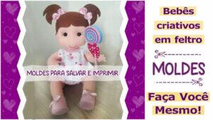 Read more about the article Molde de bebê em feltro [DIY]