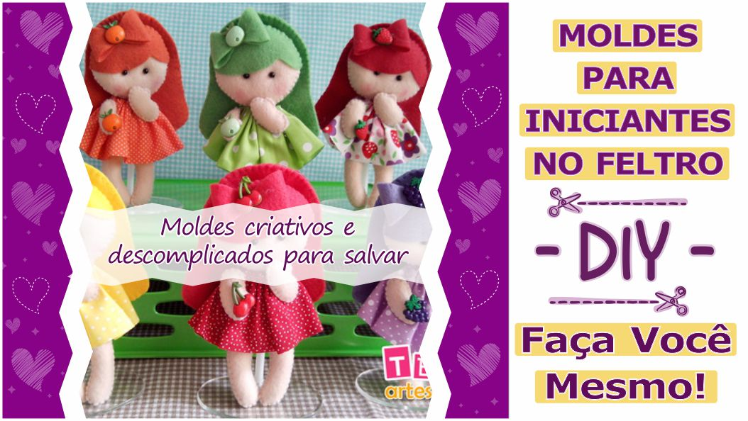 Read more about the article MOLDES PARA INICIANTES NO ARTESANATO EM FELTRO