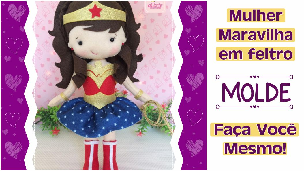 Read more about the article Mulher Maravilha em feltro – molde completo e tutorial