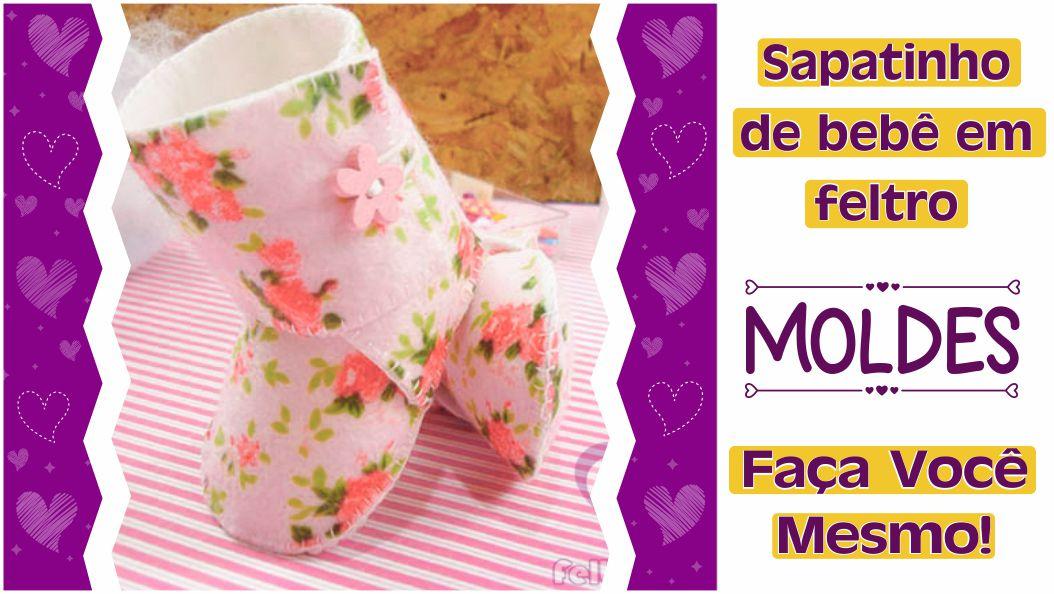 Read more about the article Sapatinho de bebê em feltro: molde e tutorial