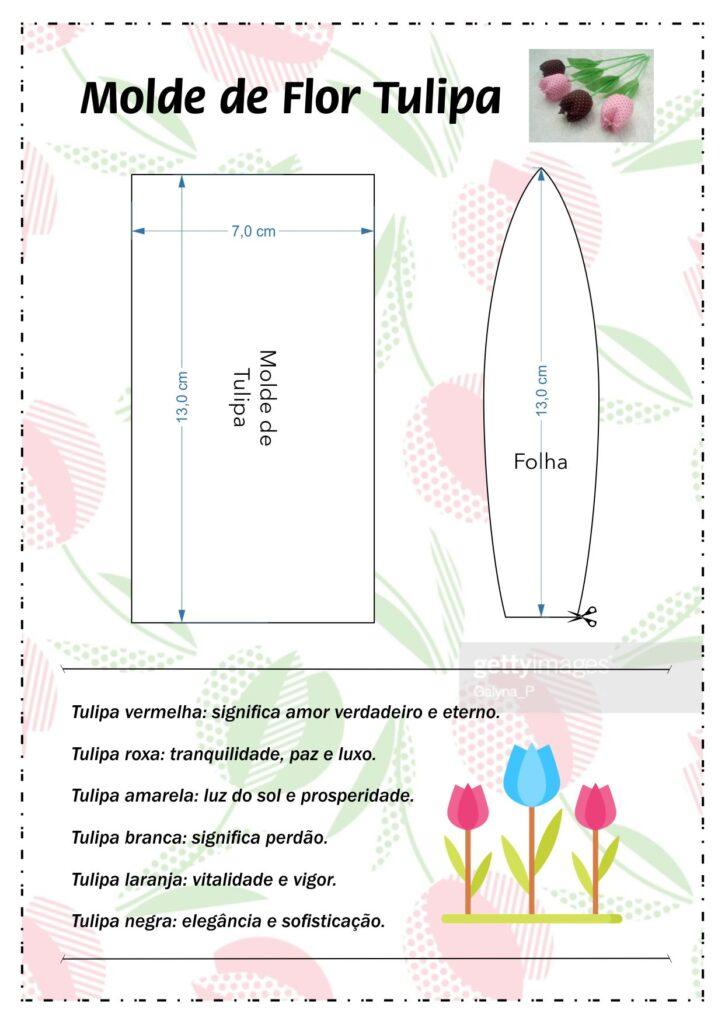 molde de flor tulipa
