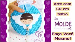 Read more about the article Arte com CD em feltro | molde criativo para imprimir