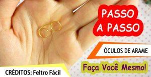 PAP ÓCULOS DE ARAME DE PAPAI NOEL – FÁCIL E RÁPIDO