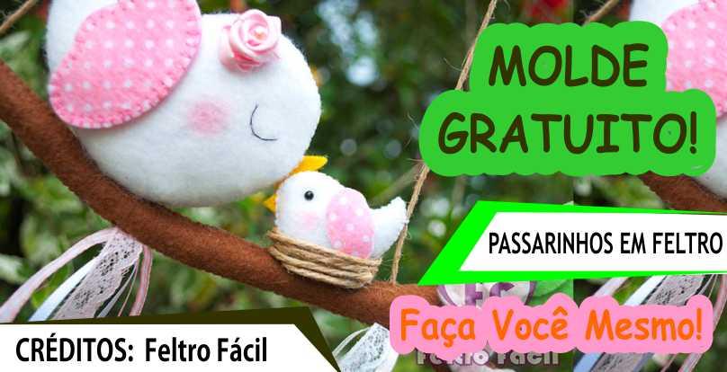 ENFEITE DE PASSARINHO – MOLDE