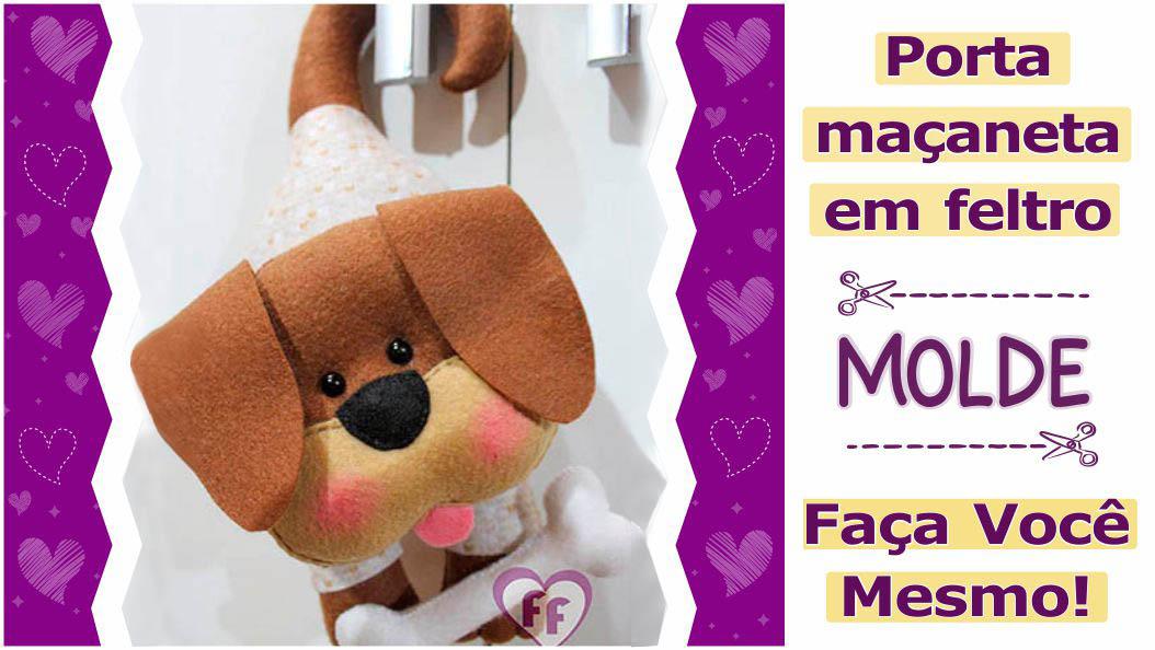 Read more about the article Molde de porta maçaneta em feltro para imprimir