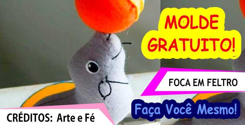 FOCA EM FELTRO –  MOLDE GRATUITO