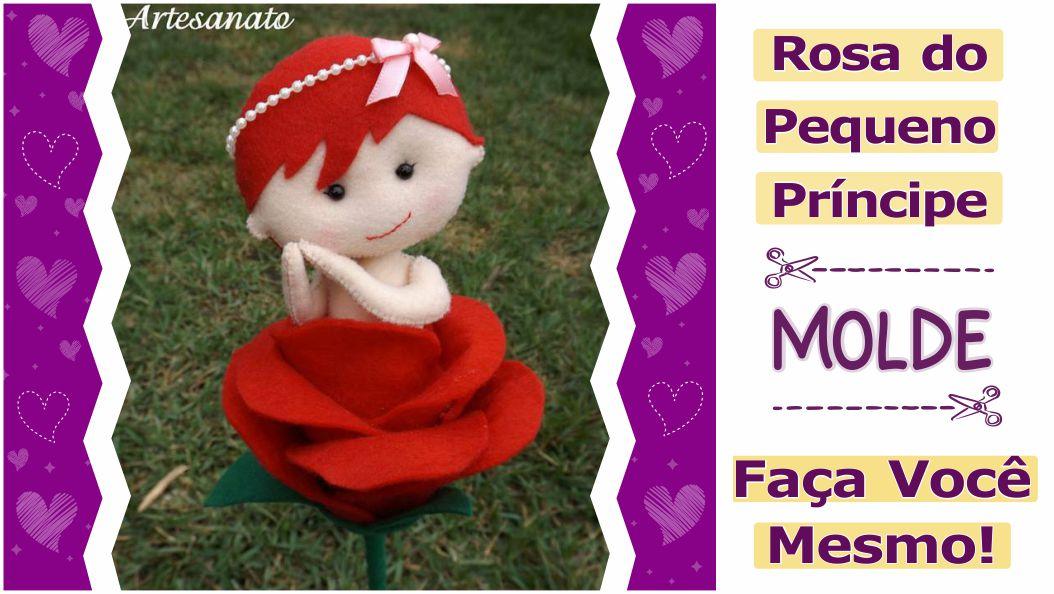 Molde Gratuito Rosa do Pequeno Princípe