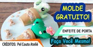 MOLDE E PASSO A PASSO GRATUITO – ENFEITE DE PORTA DE CACTO
