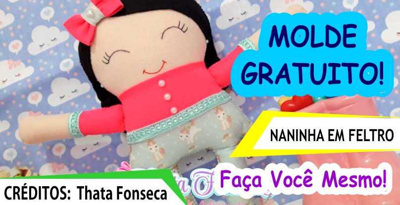 Read more about the article Molde e Passo a Passo – Naninha em Feltro