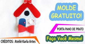 MOLDE GRATUITO PORTA PANO DE PRATO