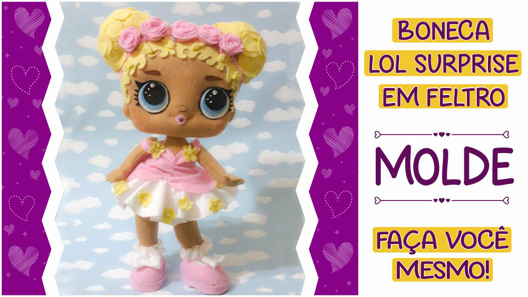 MOLDE LOL SURPRISE FLOWER CHILD – FAÇA VOCÊ MESMO!