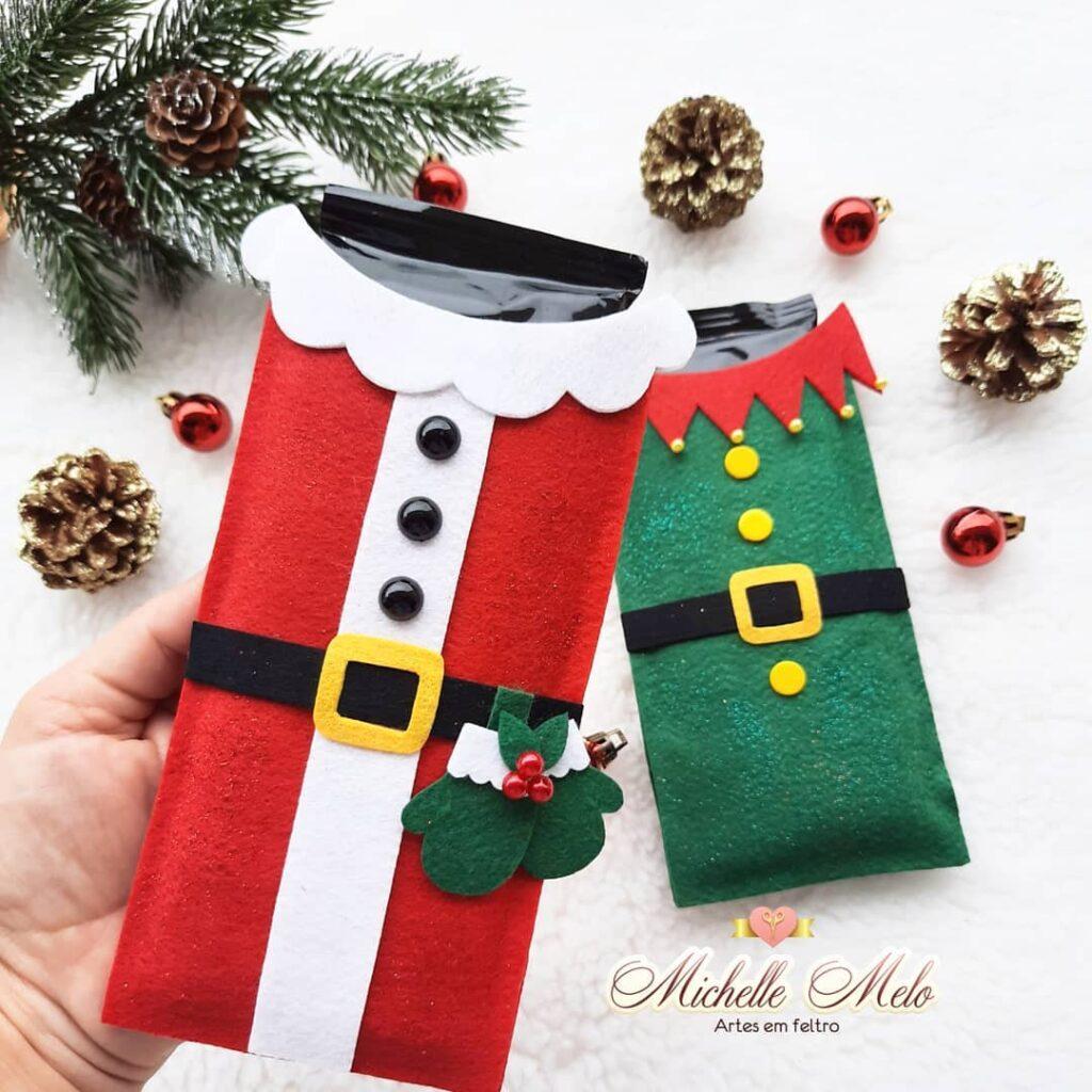 Embalagem chocolate natal