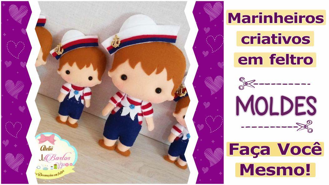 MOLDES DE MARINHEIROS CRIATIVOS – FAÇA VOCÊ MESMO!