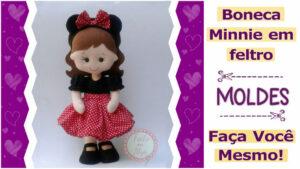 Molde de boneca Minnie para imprimir e fazer