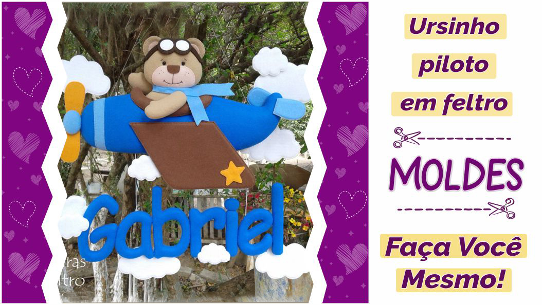 Read more about the article Molde urso piloto lindo e criativo [DIY]