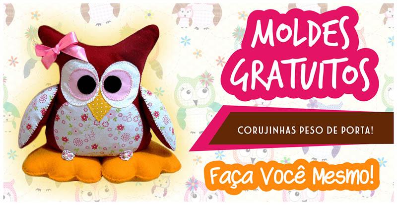 CORUJINHAS PESO DE PORTA EM FELTRO – MOLDES GRATUITOS!