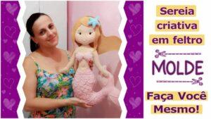 Read more about the article Molde de Sereia em feltro – faça você mesmo